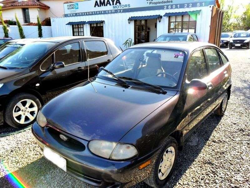 Kia Avella 1st generation [restyled] hatchback 1.3 AT (1997–1999)