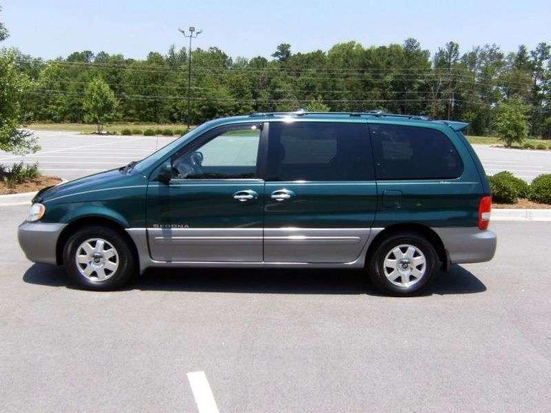 Kia Sedona 1st generation [restyled] minivan 3.5 AT (2001–2005)