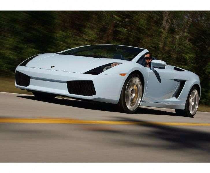 Lamborghini Gallardo 2 drzwiowy Spyder roadster pierwszej generacji 5,0 MT (2006 2008)