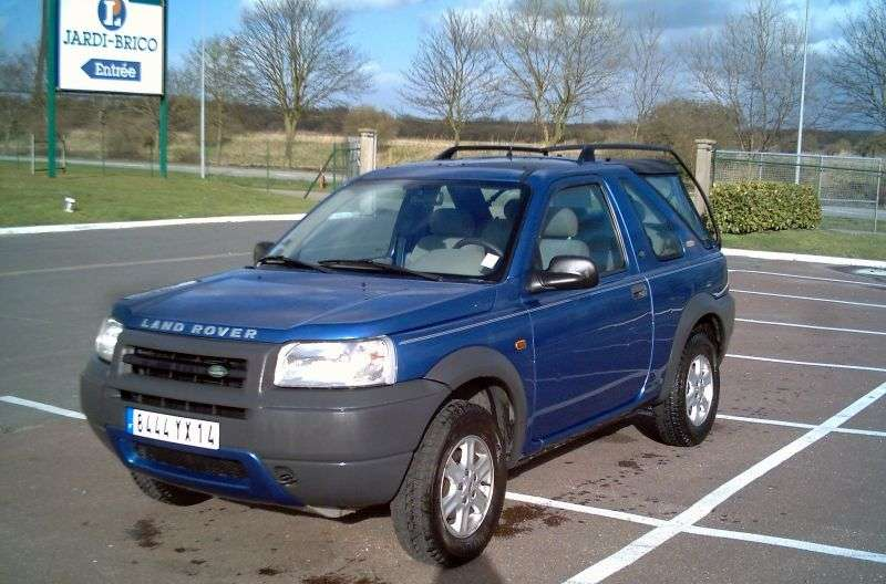 Land Rover Freelander 1st generation Soft Top 3 bit crossover. 1.8 MT (1998–2006)