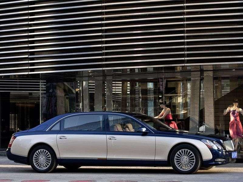 Maybach 62 1st generation [restyling] 4 door sedan 6.0 AT Basic (2010–2012)