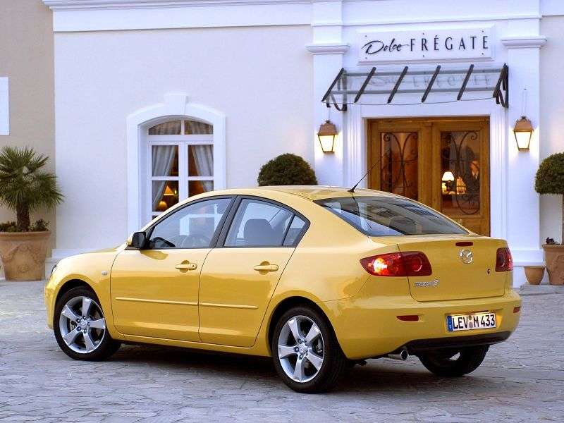 Mazda 3 BKsedan 4 bit 1.6 CiTD MT (2003–2006)