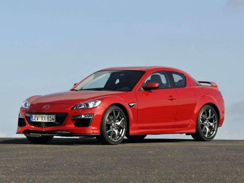 Mazda RX 8 drugiej generacji coupe 4 drzwiowe 1,3 mln ton (2008 2011)