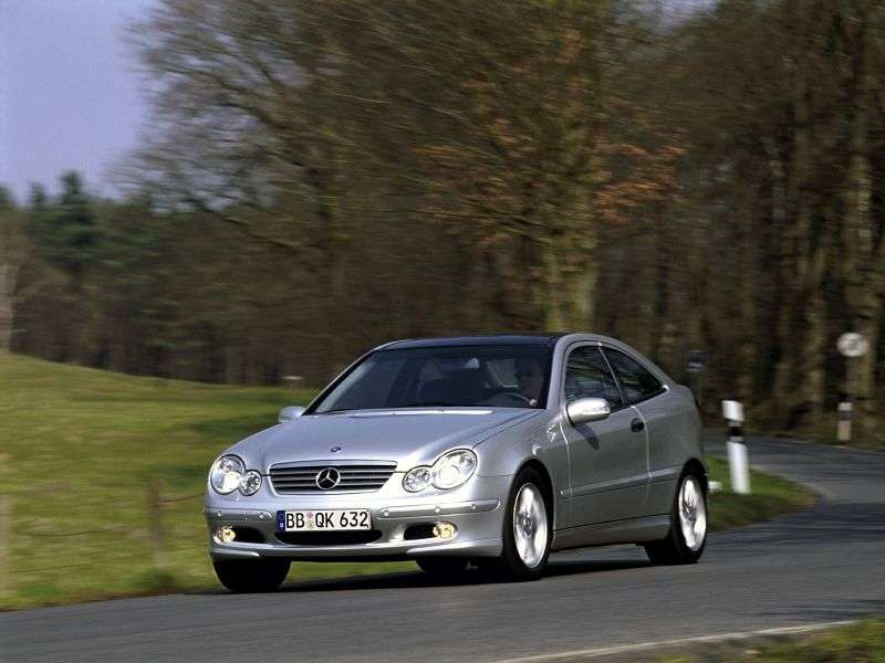 Mercedes Benz C Class W203 / S203 / CL203 coupe 3 bit. C 230 Kompressor MT (2001–2002)