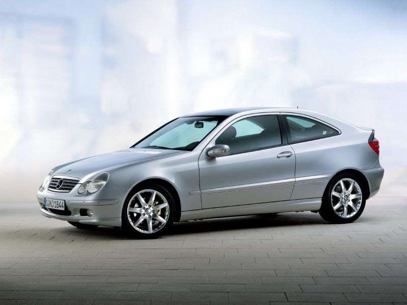 Mercedes Benz C Class W203 / S203 / CL203 coupe 3 bit. C 200 Kompressor AT (2002–2004)