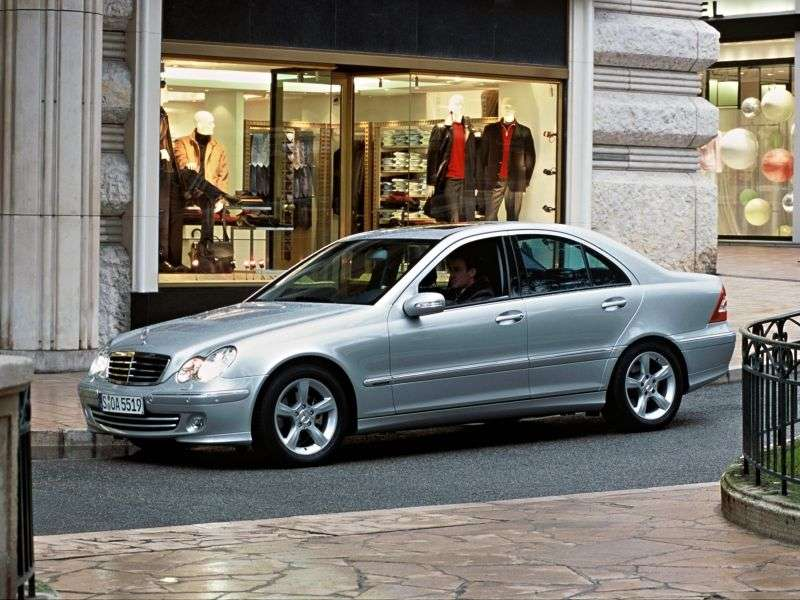 Mercedes Benz C Class W203 / S203 / CL203 [restyling] 4 door sedan. C 180 Kompressor AT (2004–2006)