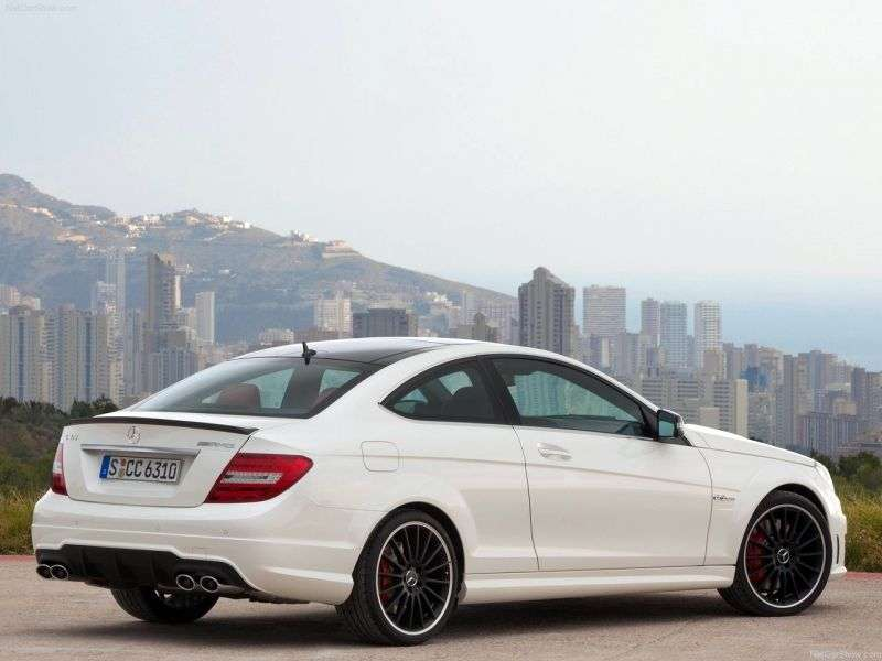 Mercedes Benz C Class W204 / S204 [restyling] AMG coupe 2 bit. C 63 AMG Speedshift MCT Basic (2011 – current century.)