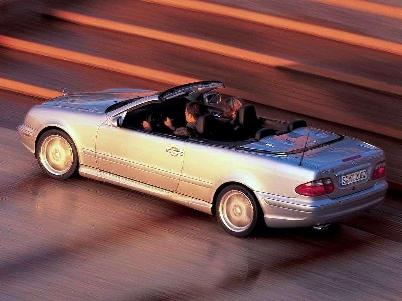 Mercedes Benz CLK Class W208 / A208AMG 2 doors convertible. CLK 55 AMG AT (2001–2002)