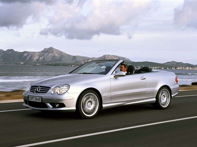 Mercedes Benz CLK Class C209 / A209AMG 2 door convertible. CLK 55 AMG AT (2003–2006)