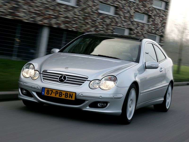Mercedes Benz C Class W203 / S203 / CL203 [restyling] coupe C 230 MT (2005–2008)
