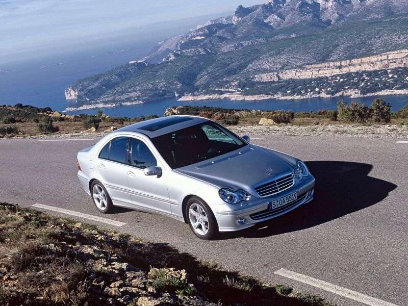 Mercedes Benz C Class W203 / S203 / CL203 [restyling] 4 door sedan. C 230 Kompressor AT (2004–2005)