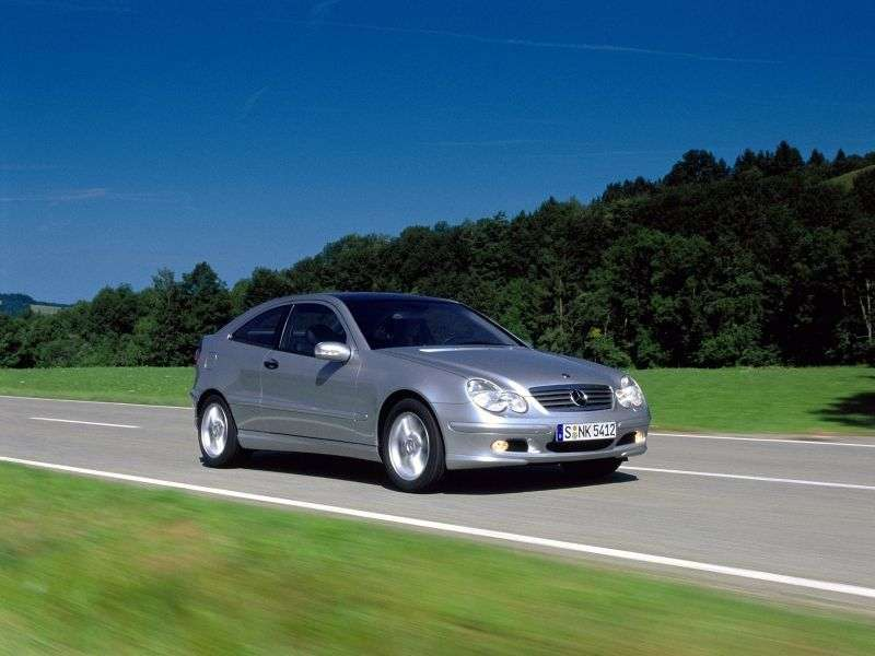 Mercedes Benz C Class W203 / S203 / CL203 coupe 3 bit. C 230 Kompressor AT (2001–2002)