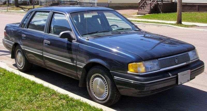 Mercury Topaz 1st generation [2nd restyling] 2.3 MT AWD sedan (1988–1991)