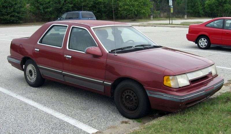 Mercury Topaz 1st generation [restyled] 2.3 AT saloon (1986–1988)