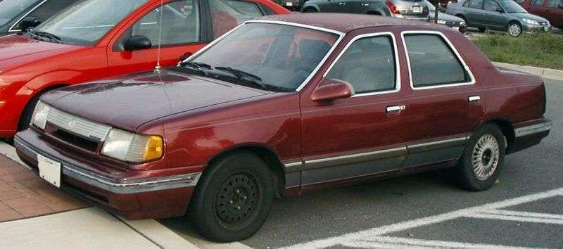 Mercury Topaz 1st generation [restyled] sedan 2.0 D MT (1986–1988)