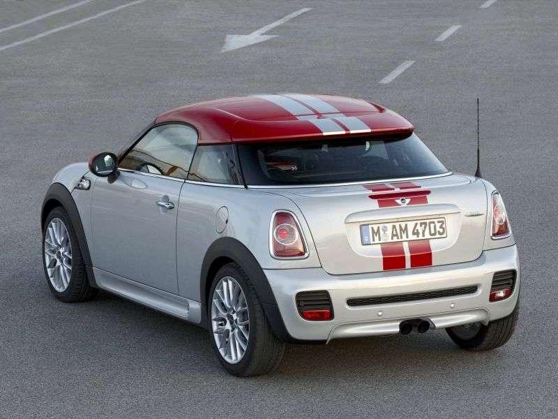 Mini Coupe 1st generation John Cooper Works coupe 2 bit. 1.6 MT Basic (2012 – present)