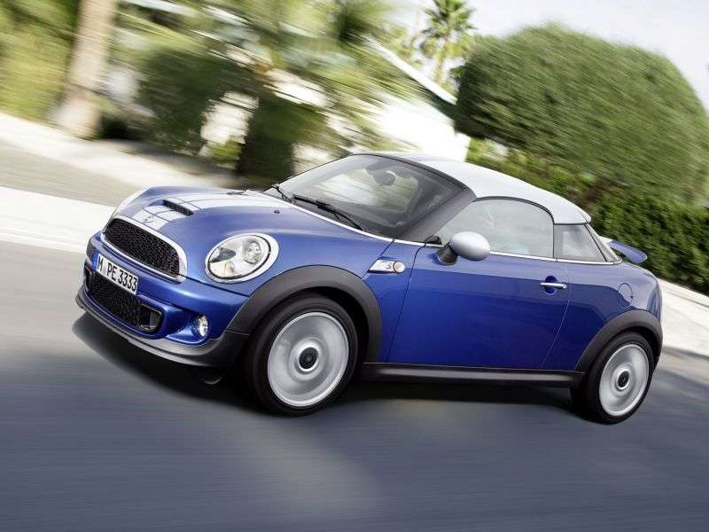 Mini Coupe 1 generation Cooper S coupe 2 bit. 1.6 MT Basic (2011 – present)