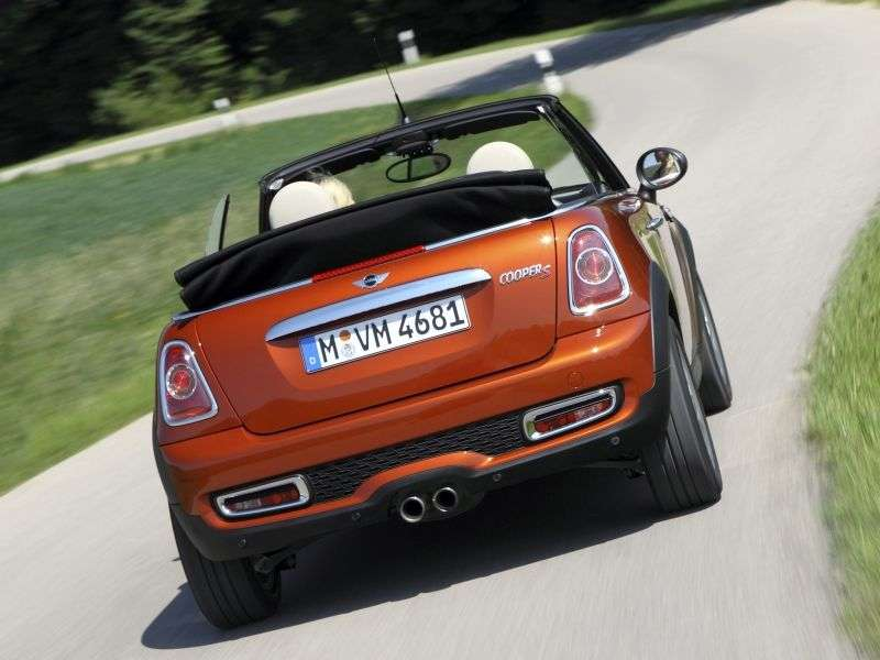 Mini Cabrio 2 generation [restyling] Cooper S 2 door convertible. 1.6 AT Basic (2010 – present)