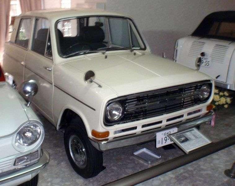 Mitsubishi Minica LA23 [2nd restyling] sedan 0.4 MT (1966–1969)