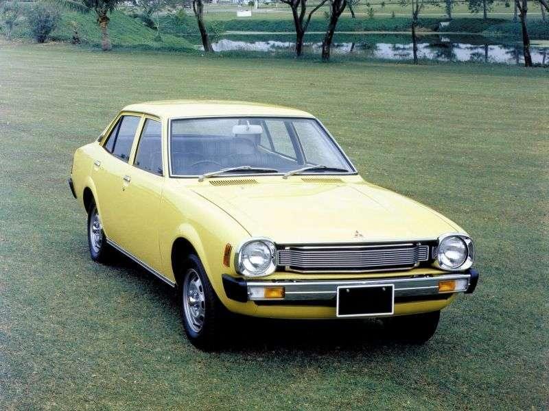 Mitsubishi Lancer A70 [2nd restyling] JDM 4 door sedan. 1.2 5MT (1976–1979)
