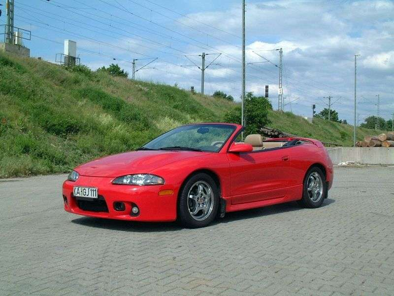 Mitsubishi Eclipse 2G [restyling] Spyder 2.0 MT T Convertible (1997–1999)