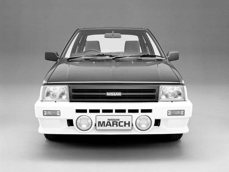 Nissan March K10 [restyling] Turbo hatchback 3 dv. 0.9 MT (1985–1989)