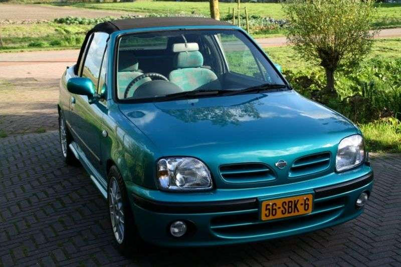 Nissan March K11 [2nd restyling] 1.4 MT convertible (1999–2002)