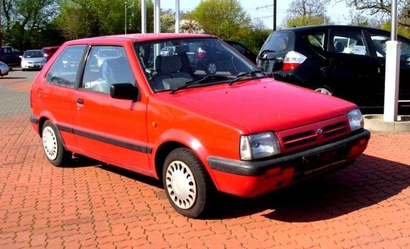 Nissan March K10 [druga zmiana stylizacji] hatchback 3 drzwiowy. 1,0 AT (1989 1991)