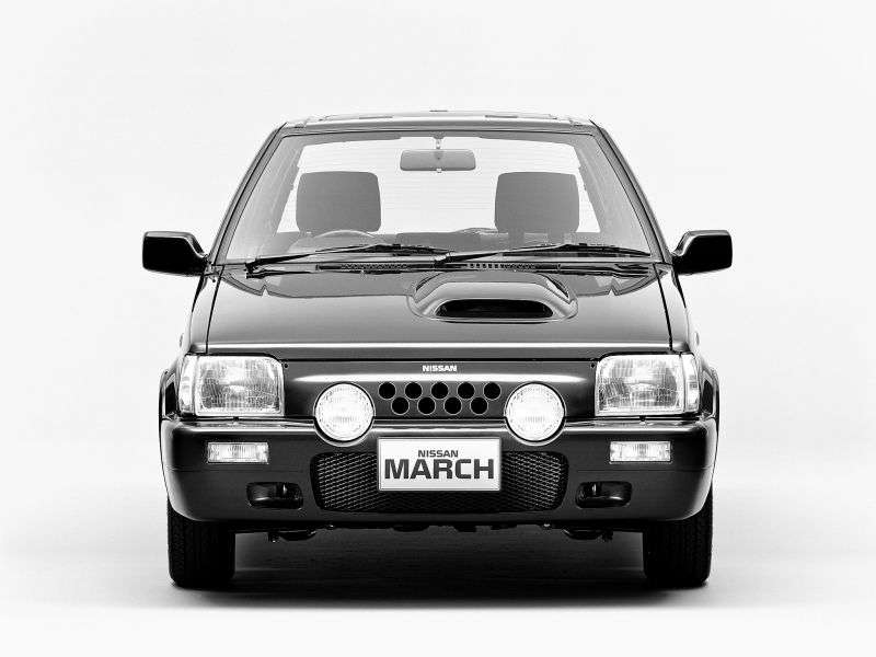 Nissan March K10 [2nd restyling] Super turbo hatchback 3 dv. 0.9 MT (1989–1991)