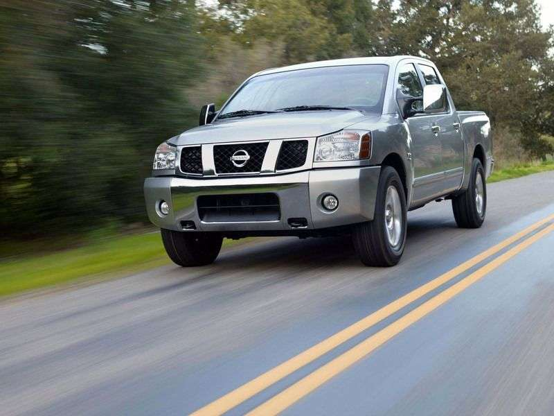 Nissan Titan 1st generation Crew Cab pickup 5.6 AT SWB 4WD (2007 – current century)