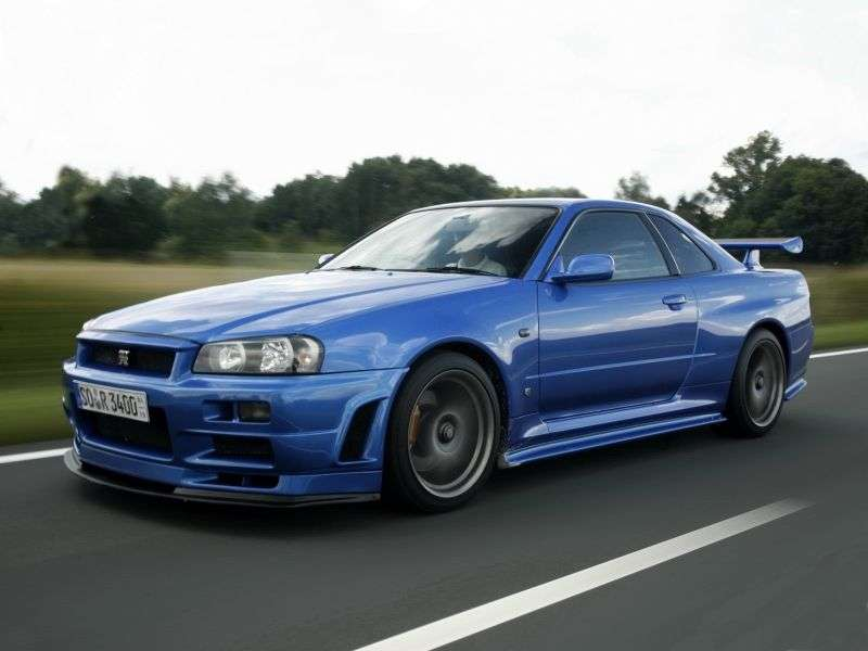 Nissan Skyline r34GT R coupe 2 bit. 2.6 Twin Turbo MT 4WD (1999–2002)
