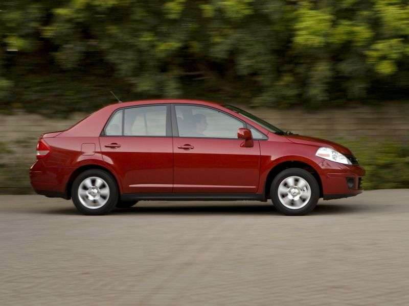 Nissan Versa 1st generation [restyled] sedan 1.8 AT (2009–2011)