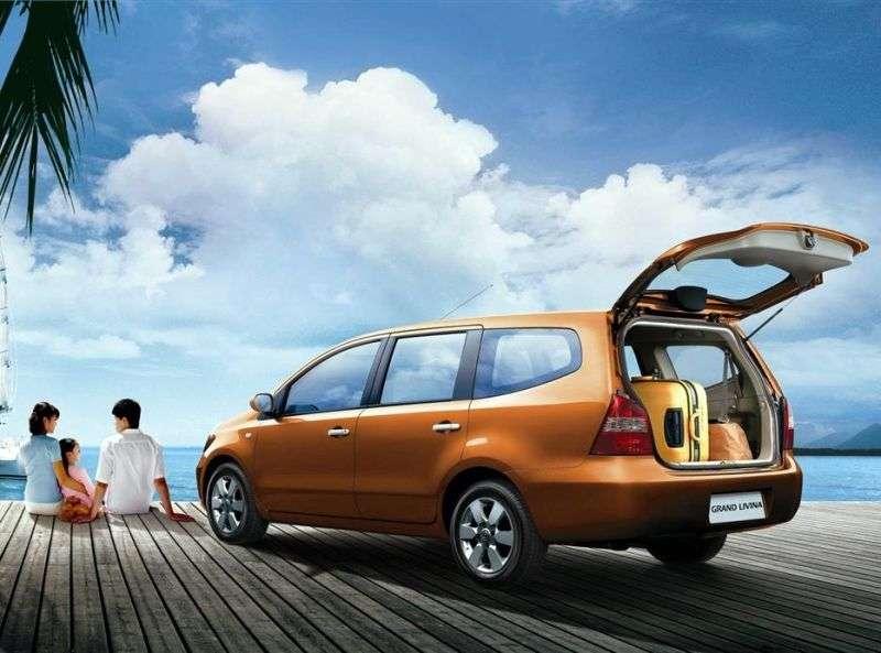Nissan Livina 1st generation Grand 5 door minivan 1.8 Flex Fuel AT (2007 – present)