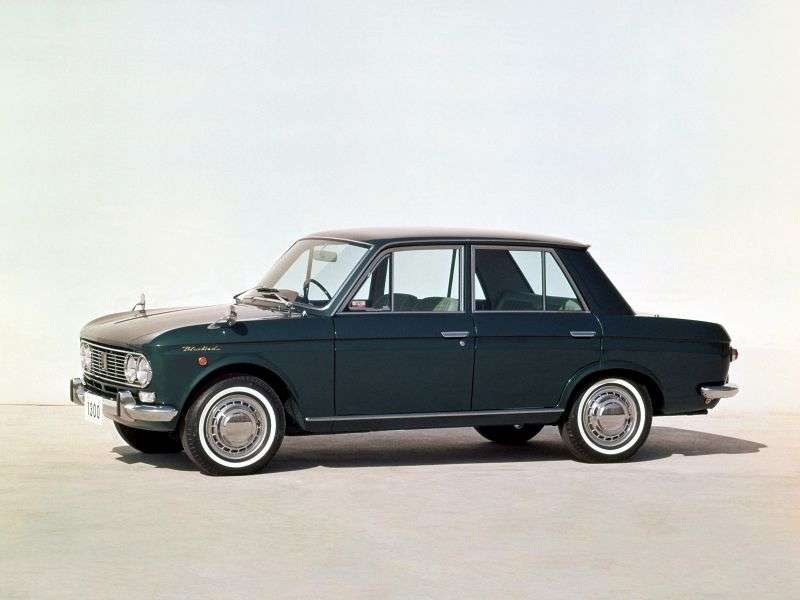 Nissan Bluebird 411 [restyling] 4 doors sedan 1.3 MT (1966–1967)