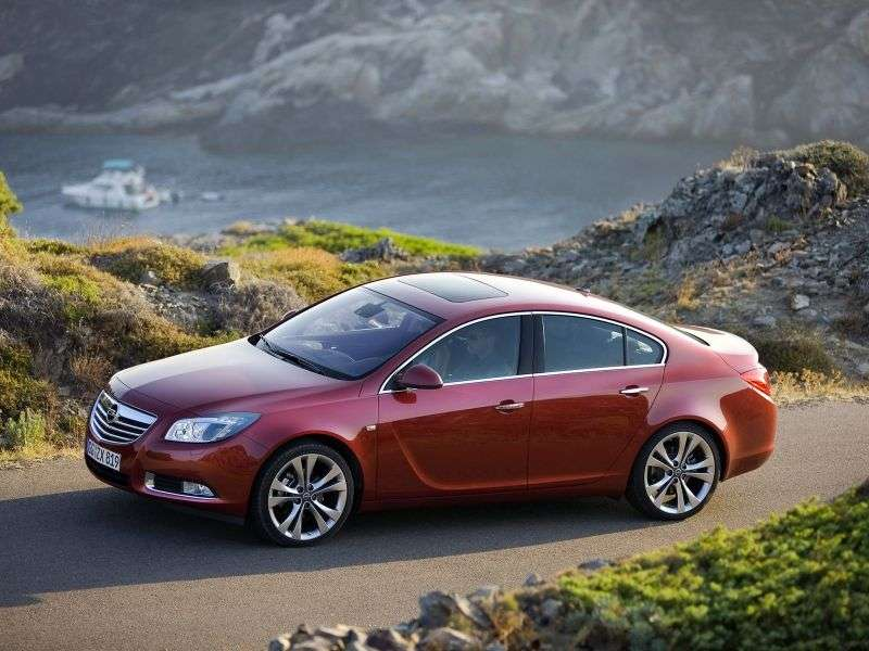 Opel Insignia 1st generation 4 door sedan 2.0 Turbo MT Sport (2009–2011)