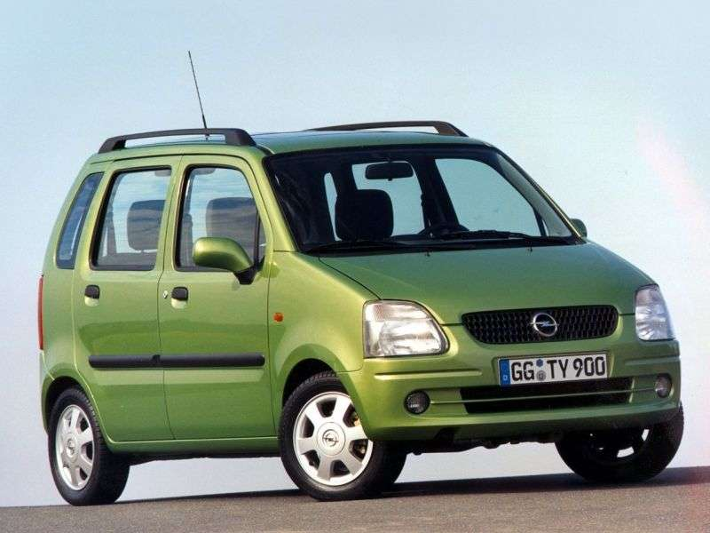 Opel Agila 1st generation [restyled] minivan 1.2 MT (2004–2007)