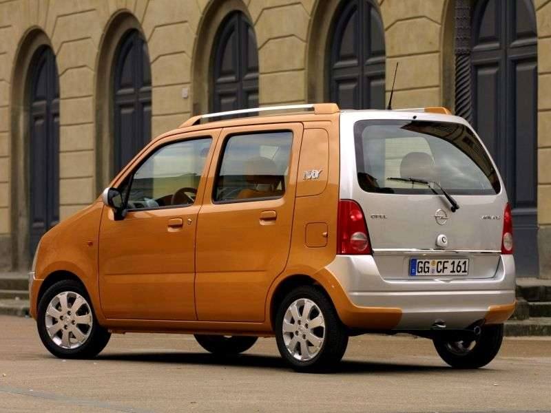 Opel Agila 1st generation [restyled] minivan 1.0 Twinport MT (2003–2004)