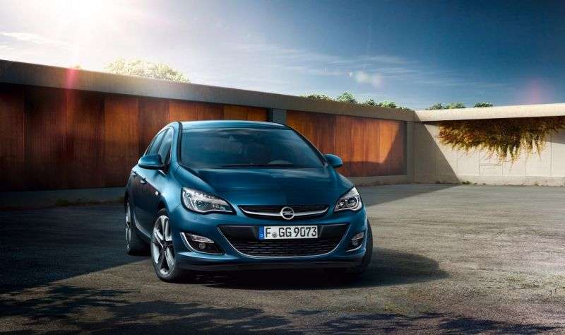 Opel Astra J [restyled] hatchback 1.6 AT Active (2012 – n.)