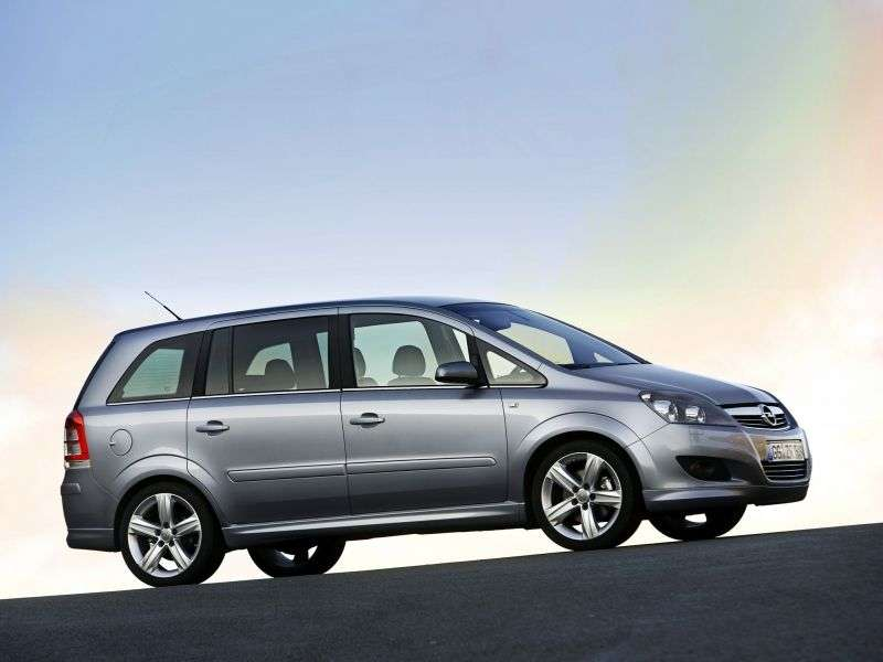 Opel Zafira Family [restyled] minivan 1.6 CNG MT (2008–2010)