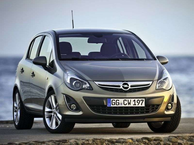 Opel Corsa D [restyling] 5 dv hatchback 1.4 MT Active (2011 – n. In.)