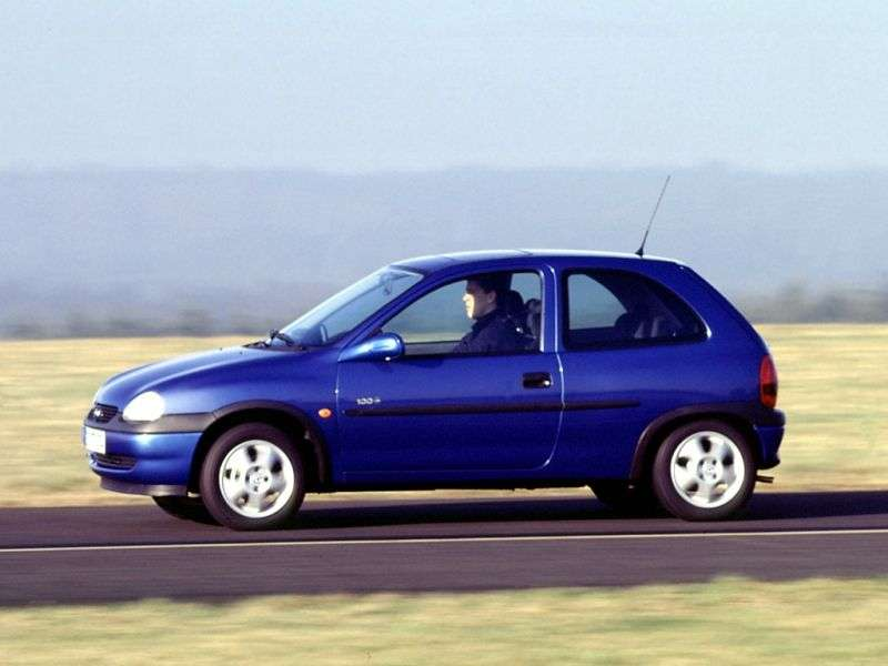 Opel Corsa B [restyling] 3 bit hatchback 1.4 AT (1997–1998)