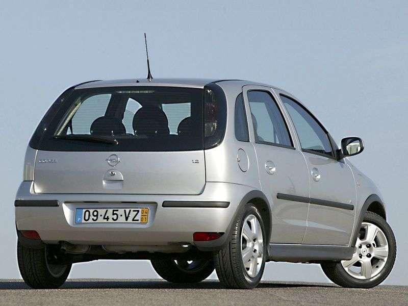 Opel Corsa C [restyling] 5 dv hatchback 1.2 MT (2004–2006)