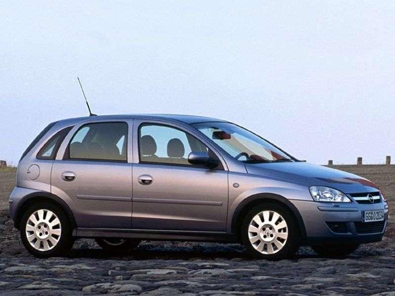 Opel Corsa C [restyling] 5 dv hatchback 1.8 MT (2003–2006)