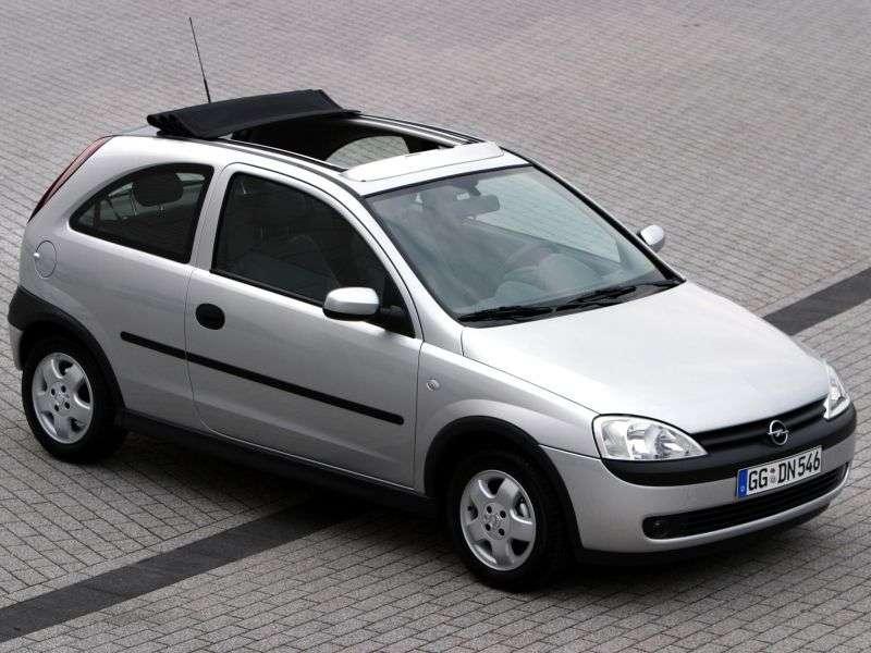 Opel Corsa Chetchback 3 dv. 1.7 DTI MT (2000–2003)