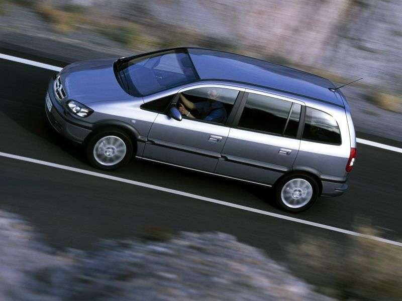 Opel Zafira A [restyled] 5 door minivan 2.2 MT (2003–2005)