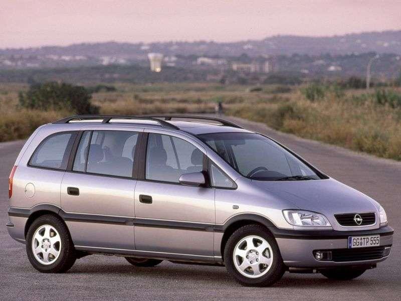 Opel Zafira Aminivan 5 bit 2.2 AT (2000–2003)