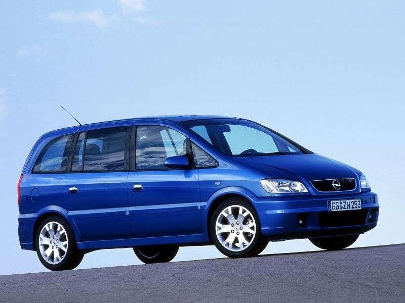 Opel Zafira AOPC 5 door minivan 2.0 Turbo MT (2000–2003)
