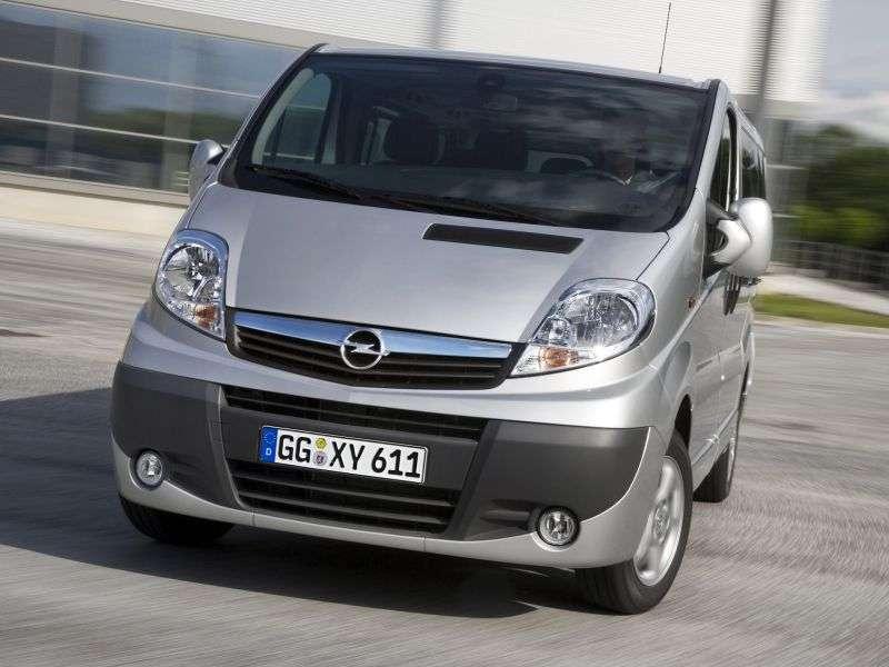 Opel Vivaro 1. generacja [zmiana stylizacji] Minibus 2.5 CDTI L1H1 2700 Easytronic (2006 obecnie)