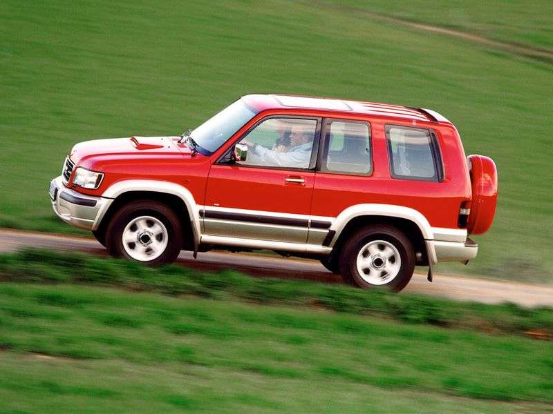 Opel Monterey 1st generation [restyled] SUV 3 dv. 3.0 DTI MT 4WD (1998–1999)
