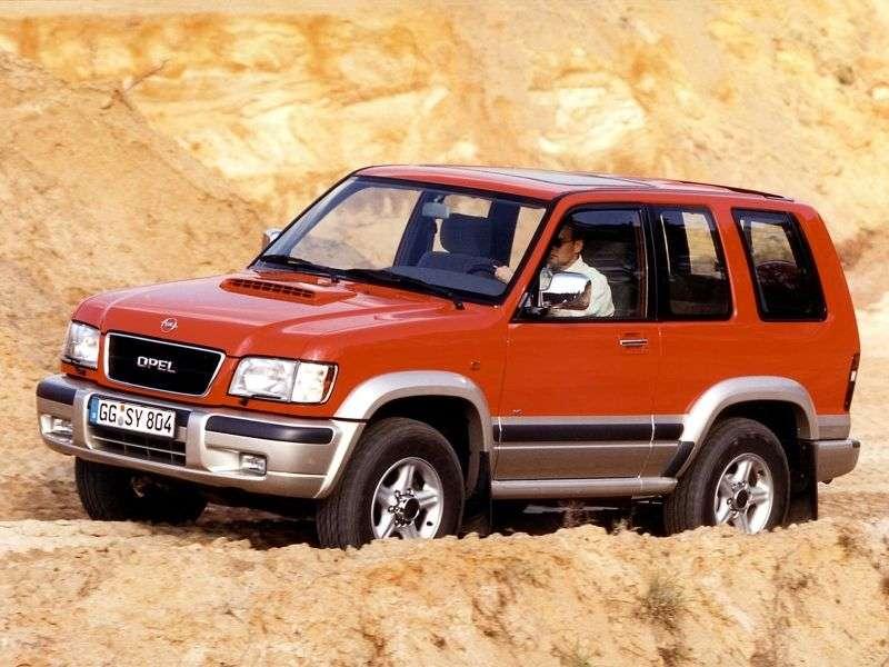 Opel Monterey 1st generation [restyled] SUV 3 dv. 3.5 MT 4WD (1998–1999)